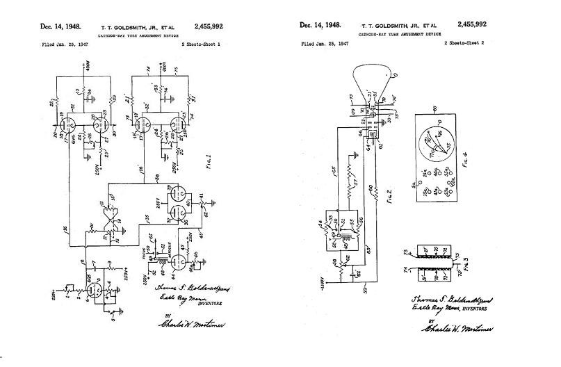 Cathode-Ray Tube Amusement Device Patent