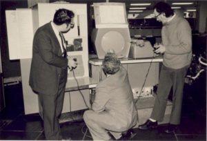 Kotok, Russell, Graetz playing Spacewar