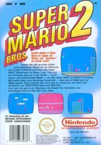 Super Mario Bros 2 Box Back
