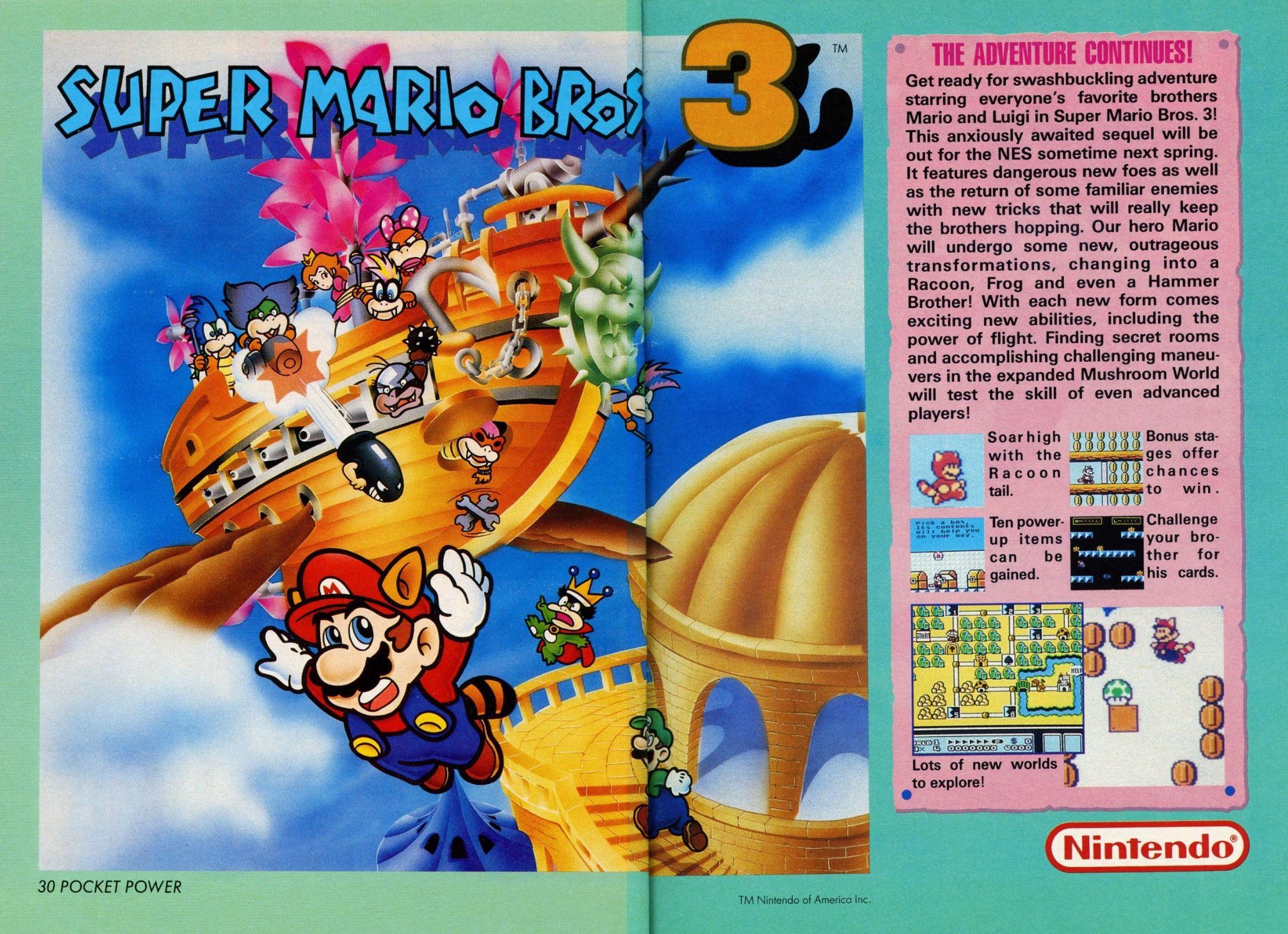 Super Mario Bros 3 Magazine Ad