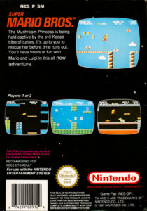 Super Mario Bros Box Back