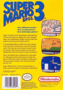 Super Mario Bros 3 Box Back