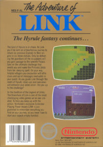 Zelda II - The adventure of Link Box Back