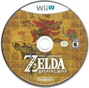 Breath of the Wild Wii U Disc