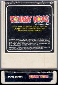 Donkey Kong Atari 2600 Cartridge