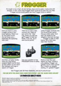 Frogger Atari 2600 Box Back