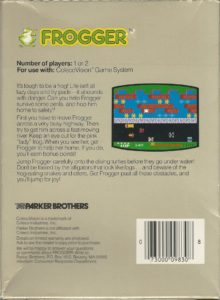 Frogger ColecoVision Box Back