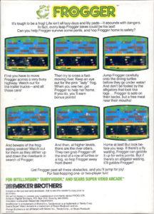 Frogger Intellivision Box Back