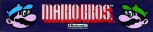 Mario Bros Arcade Cabinet Marquee