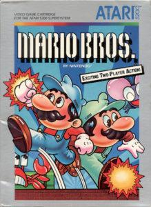 Mario Bros Atari 5200 Box