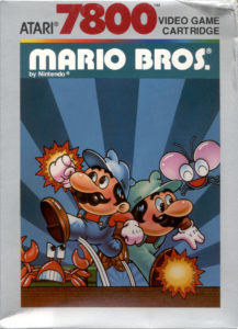 Mario Bros Atari 7800 Box
