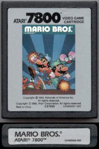 Mario Bros Atari 7800 Cartridge