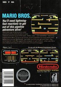 Mario Bros NES Box Back