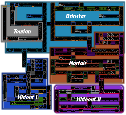 Metroid NES Map