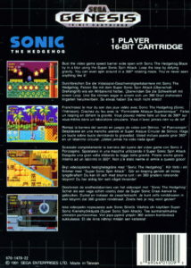 Sonic The Hedgehog Box Back