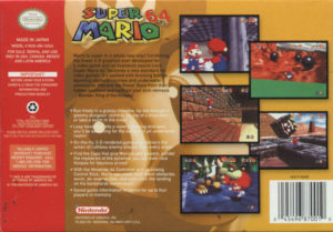 Super Mario 64 Box Back