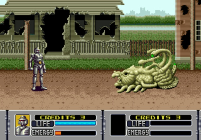 Alien Storm - First Boss Battle