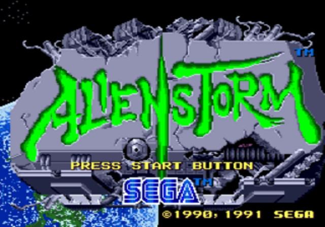 Alien Storm - Title Screen