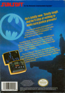 Batman NES Box Back
