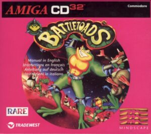 Battletoads Amiga CD 32 Box