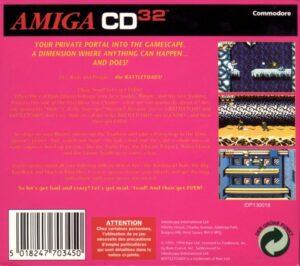 Battletoads Amiga CD 32 Box Back