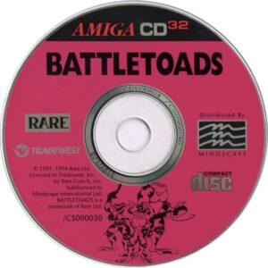 Battletoads Amiga CD 32 Disc