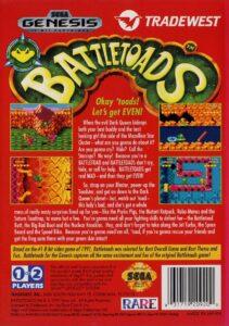 Battletoads Genesis Box Back