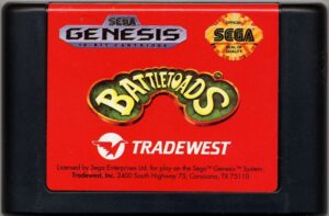 Battletoads Genesis Cartridge