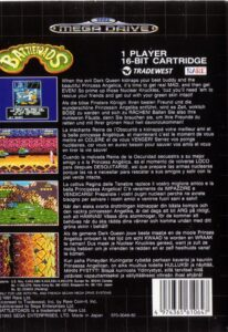 Battletoads Mega Drive Box Back
