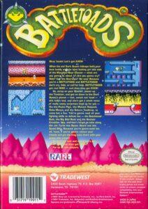 Battletoads NES Box Back