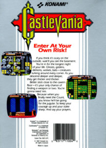 Castlevania Box Back