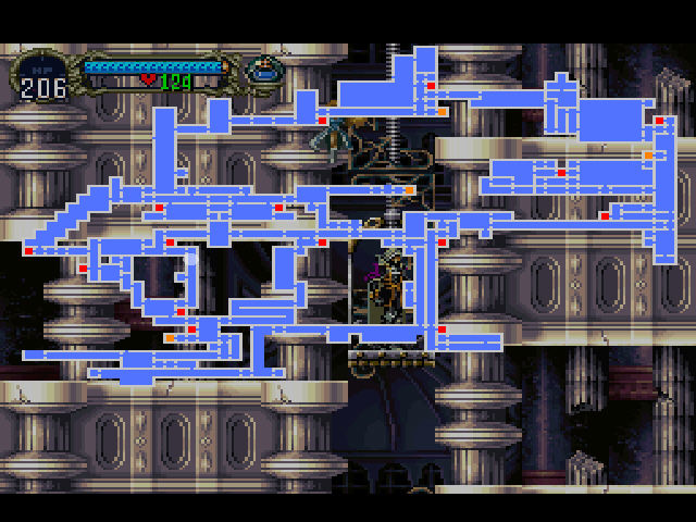 Castlevania - Symphony of the Night - Castle Map