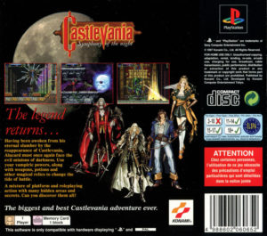 Castlevania - Symphony of the Night European Box Back