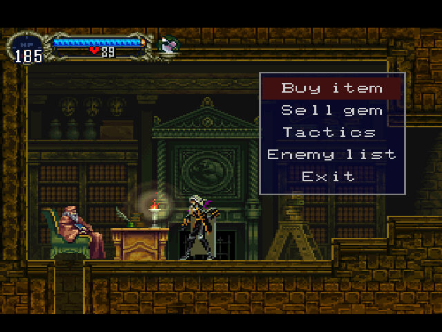 Castlevania - Symphony of the Night - Shop