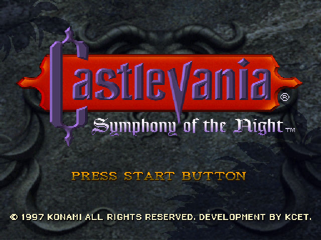 Castlevania - Symphony of the Night - Title Screen