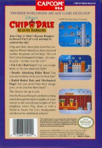 Chip 'n Dale Rescue Rangers Box Back