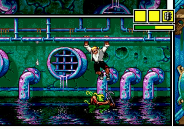 Comix Zone - Fight in the sewer