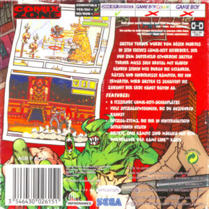 Comix Zone GBA Box Back