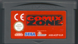 Comix Zone GBA Cartridge