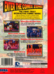 Comix Zone Genesis Box Back