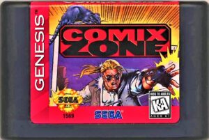Comix Zone Genesis Cartridge