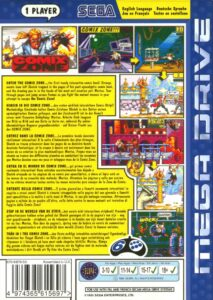 Comix Zone Mega Drive Box Back
