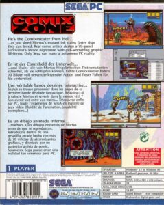 Comix Zone PC Box Back