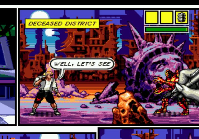 Comix Zone - Statue of Liberty