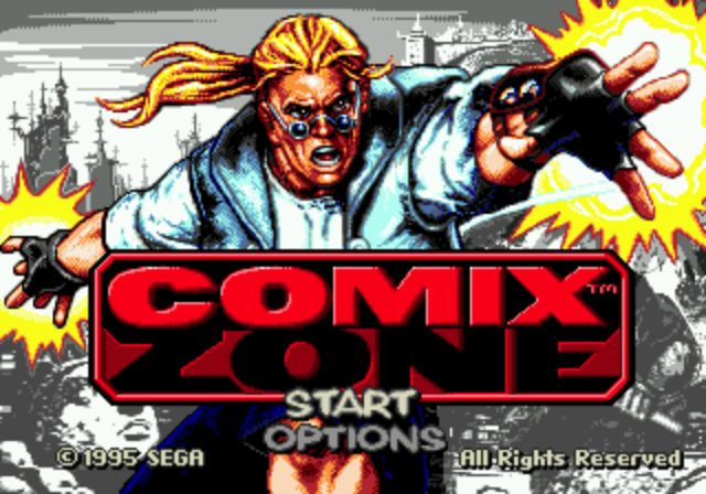 Comix Zone - Title Screen