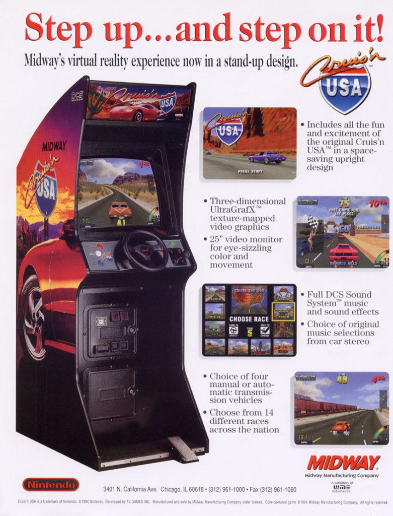 Cruis'n USA Arcade Flyer