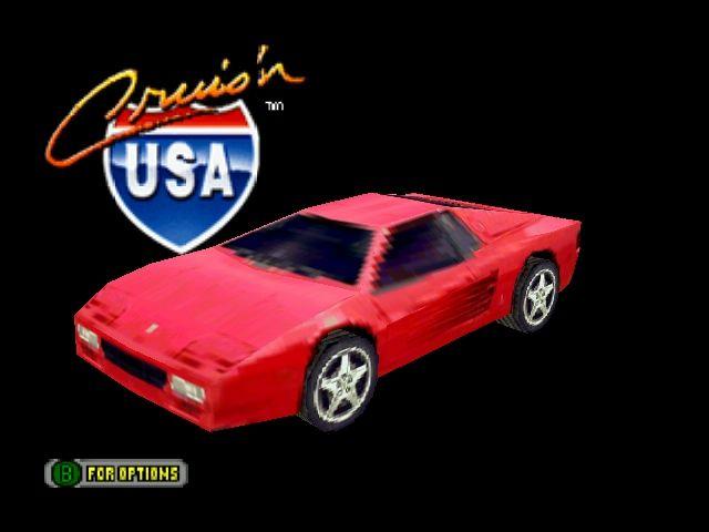 Cruis'n USA - Title Screen