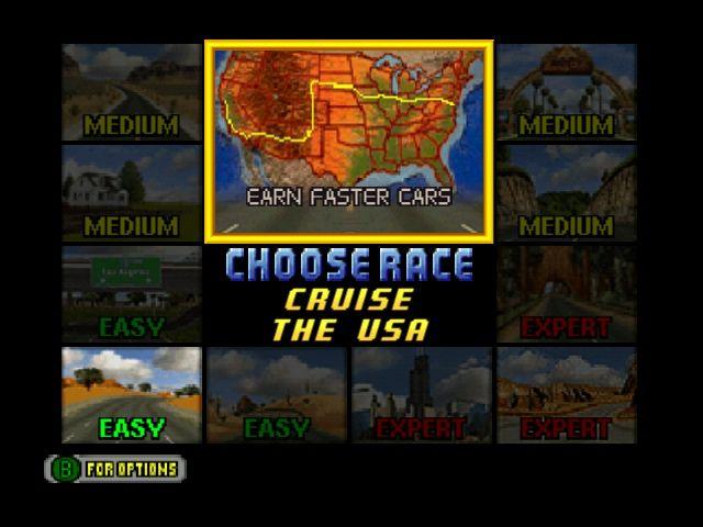 Cruis'n USA - Track Selection