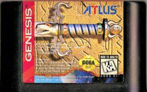 Crusader of Centy Genesis Cartridge