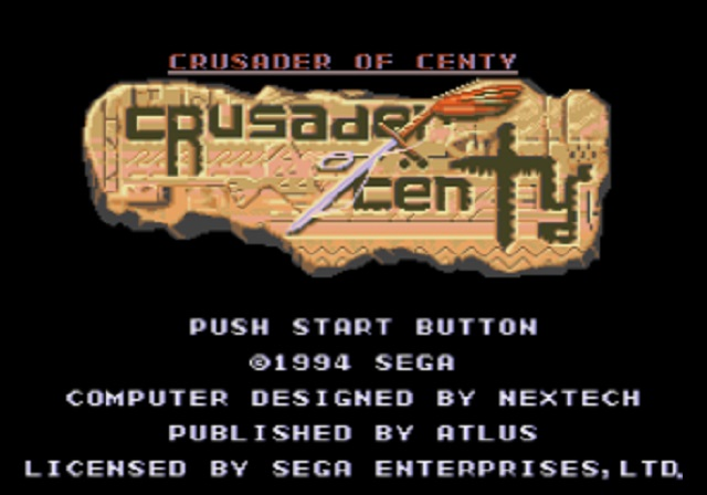 Crusader of Centy - Title Screen